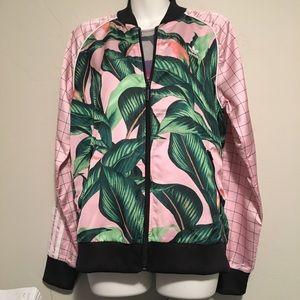 2e571fa01af74 adidas Jackets & Coats - adidas Originals Farm Big Leaf Satin Track Top
